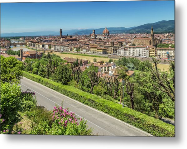 Florence View From Piazzale Michelangelo Metal Print