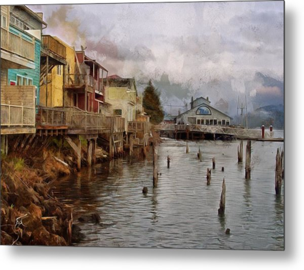 Scene On The Siuslaw  Metal Print