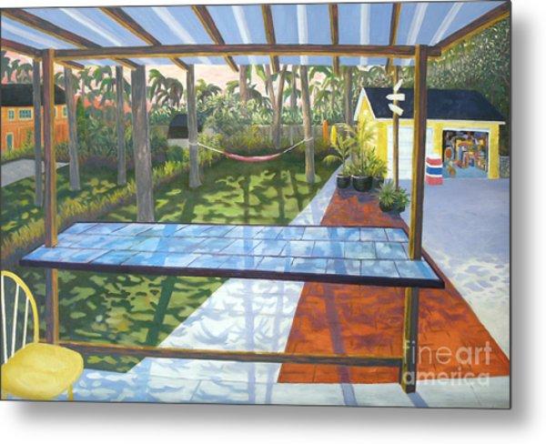 Florida Backyard Metal Print by Blaine Filthaut
