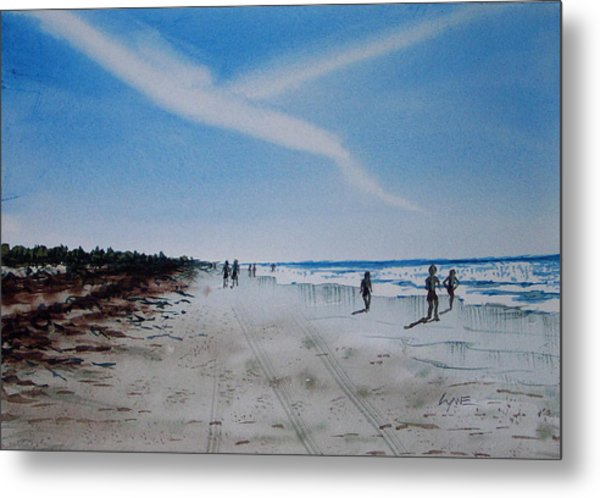 Florida Beach Day Metal Print