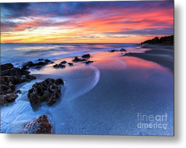 Florida Beach Sunset 4 Metal Print