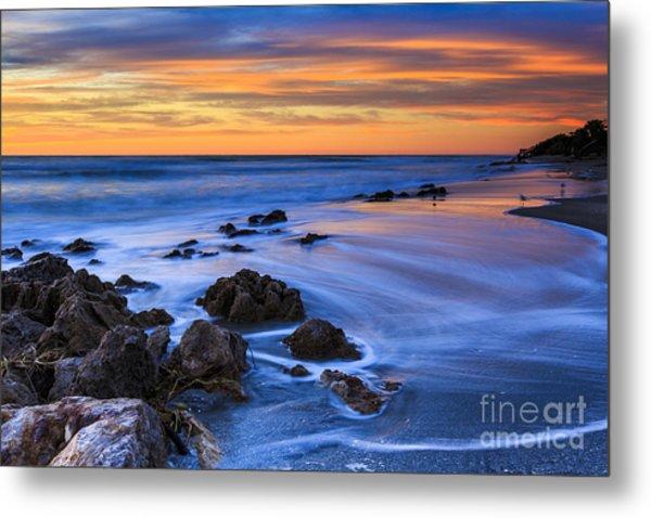 Florida Beach Sunset Metal Print