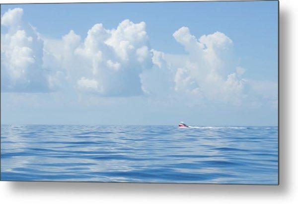 Florida Keys Clouds And Ocean Metal Print