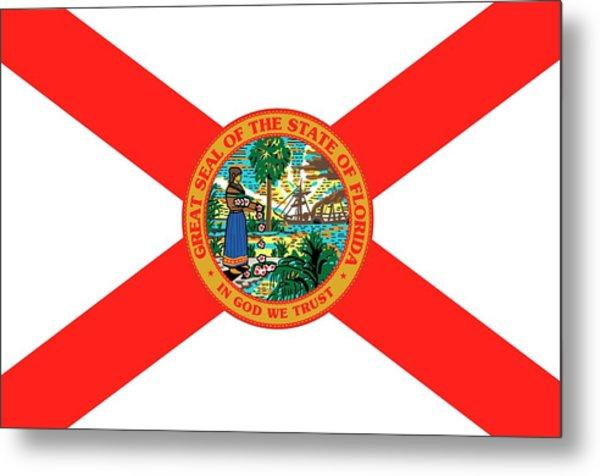 Florida State Flag Metal Print