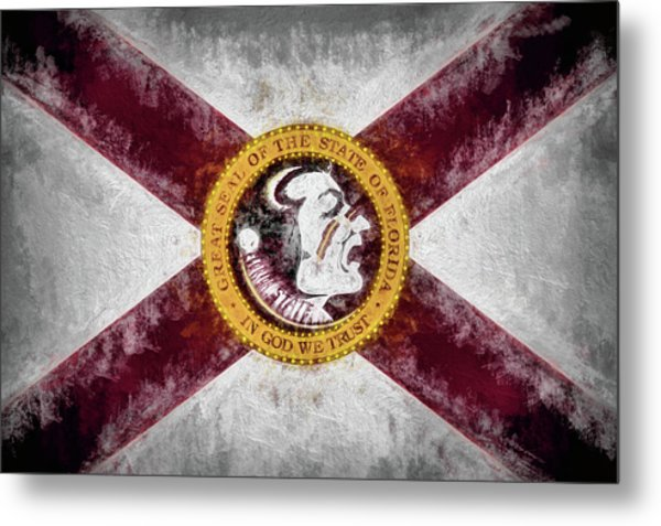 Florida State Flag Metal Print by JC Findley