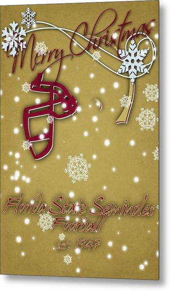 Florida State Seminoles Christmas Card 2 Metal Print