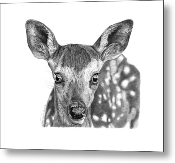 Florry The Fawn Metal Print