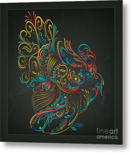 Flourish Turkey Metal Print