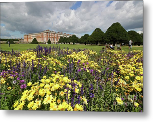 Flower Bed Hampton Court Palace Metal Print