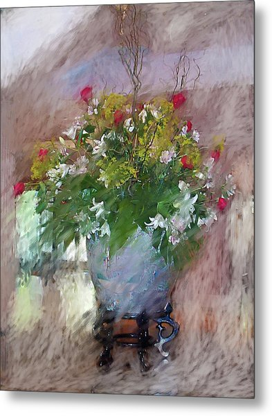 Flower Bowl Metal Print