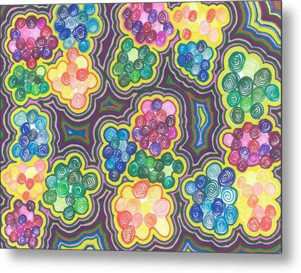 Flower Frenzy Metal Print