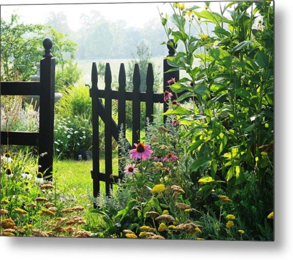 Flower Gate Metal Print by Joyce Kimble Smith