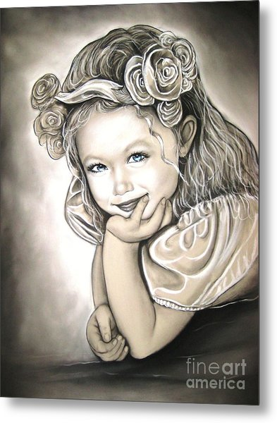 Flower Girl Metal Print by Anastasis  Anastasi