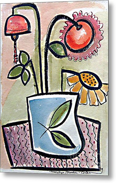 Flower Jug Metal Print