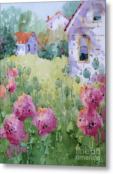 Flower Lady's Poppies Metal Print