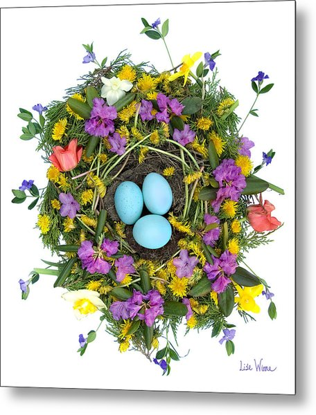 Flower Nest Metal Print