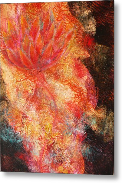 Flower Of The Flame Metal Print by Sue Reed