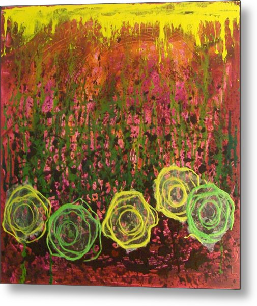 Flower Pops Metal Print
