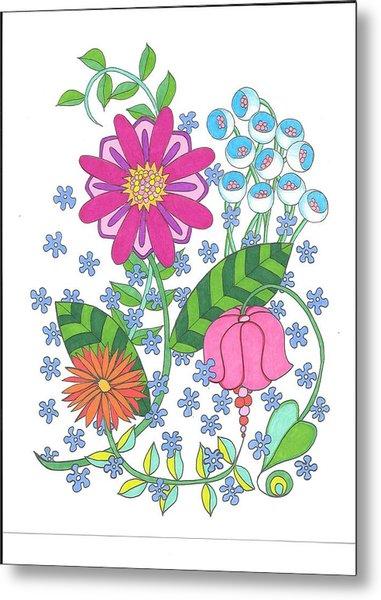 Flower Power 3 Metal Print