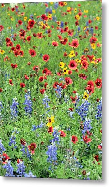 Flower Quilt Metal Print