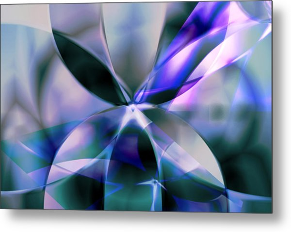 Flower Reflections Metal Print