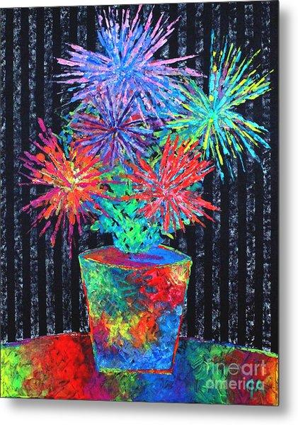 Flower-works Plant Metal Print
