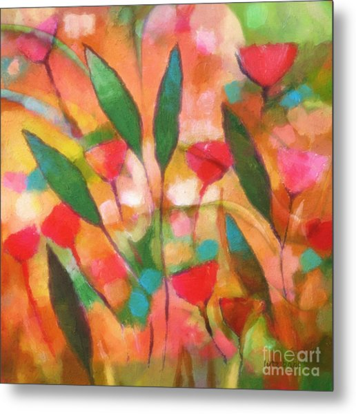 Flowerflow Metal Print