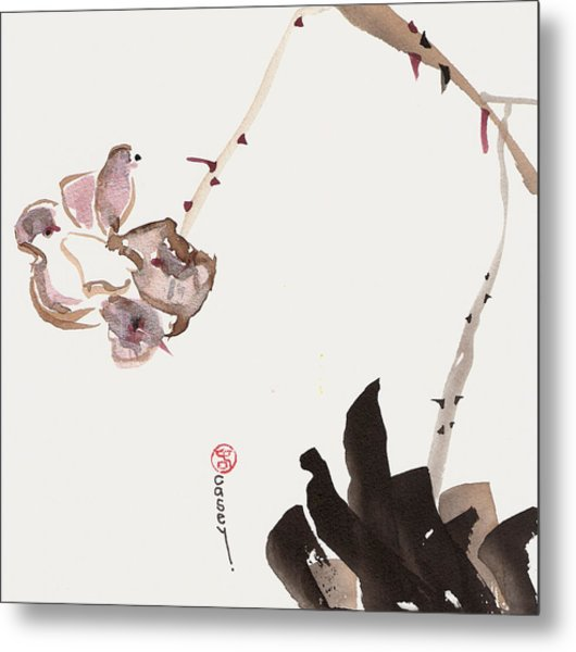Flowering Alone Metal Print
