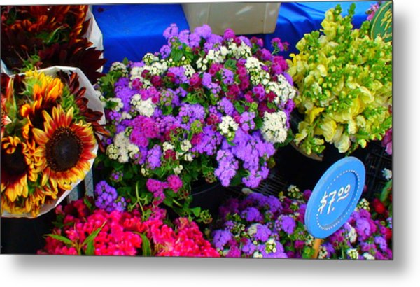 Flowers At Union Station Market Metal Print