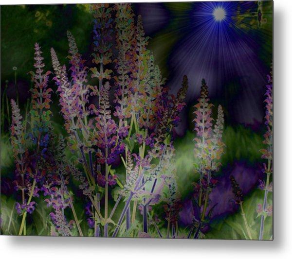 Flowers By Moonlight Metal Print
