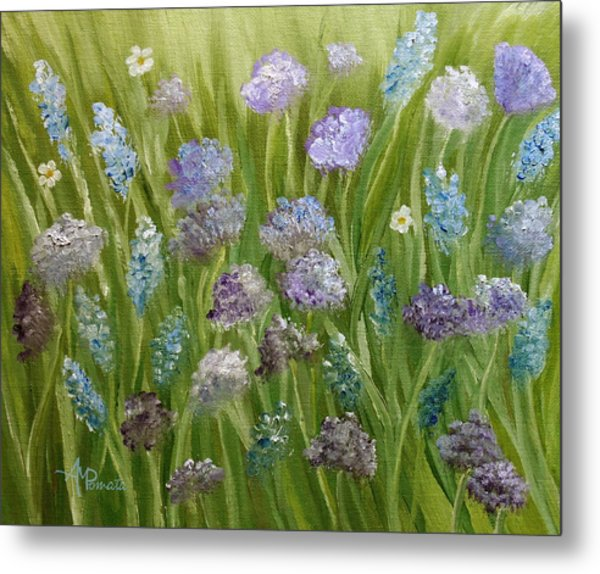 Flowers Field Metal Print