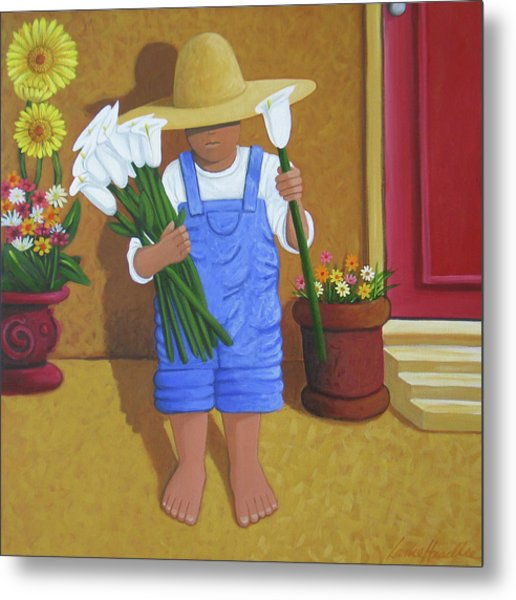 Flowers For A Friend Metal Print