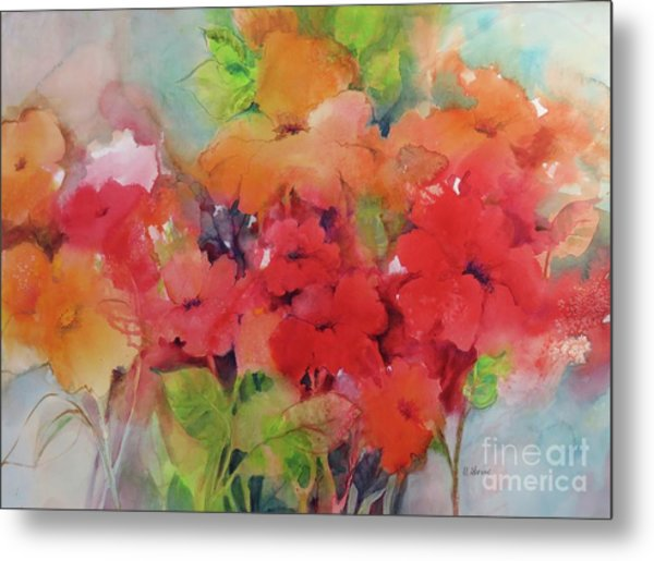 Flowers For Peggy Metal Print
