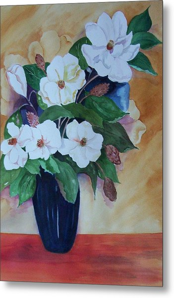 Flowers For The Table Metal Print by Audrey Bunchkowski