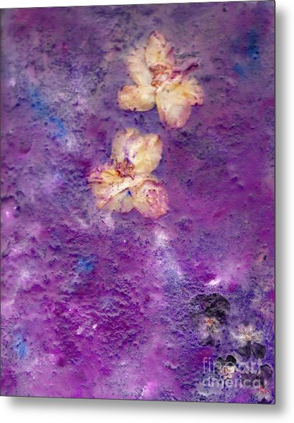 Flowers From The Garden Metal Print