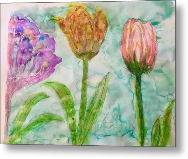 Tulips A'bloom Metal Print