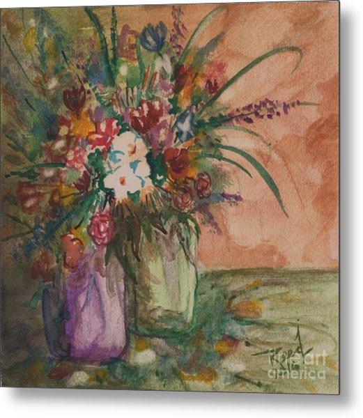 Flowers In Vases 2 Metal Print