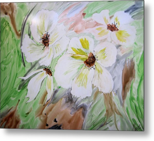 Flowers Metal Print by Maris Sherwood