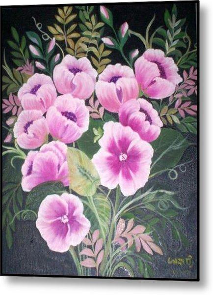 Flowers Metal Print by Usha Rai