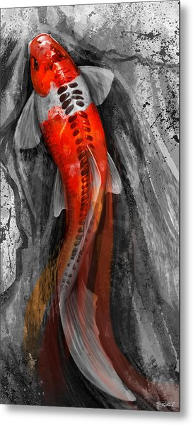 Flowing Koi Metal Print