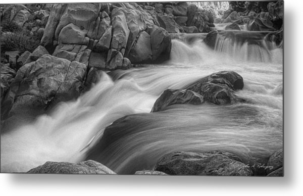 Flowing Waters At Kern River, California Metal Print