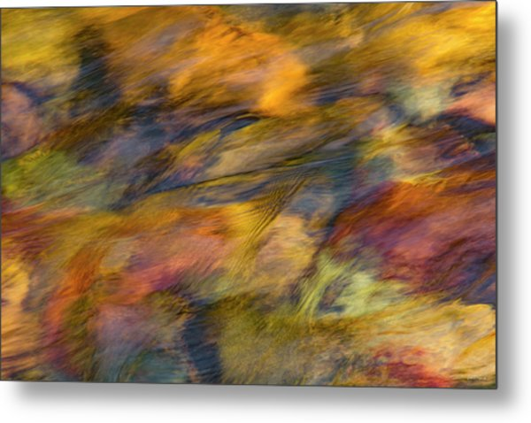 Metal Print featuring the photograph Flowing Waters Luminescence by Leland D Howard