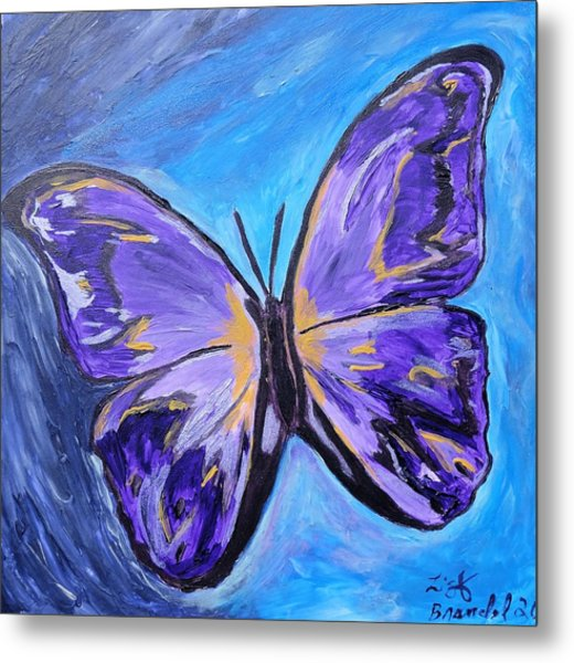 Flutterby Bring The Light Metal Print