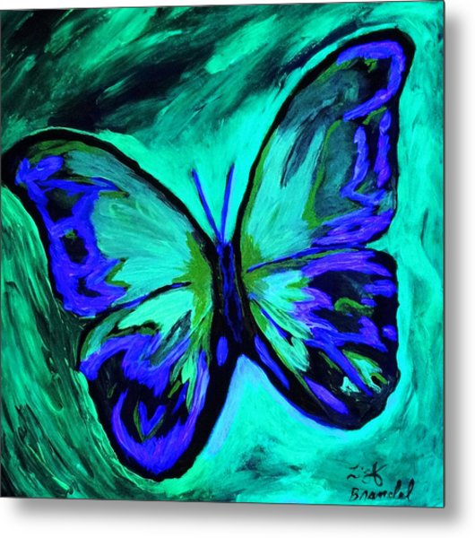 Flutterby Brings The Light Through Dark Metal Print