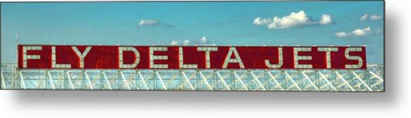 Fly Delta Jets Signage Hartsfield Jackson International Airport Art Atlanta, Georgia Art Metal Print