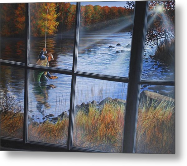 Fly Fisher Metal Print