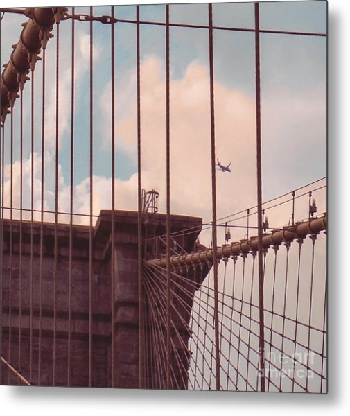 Fly Over Brooklyn  Metal Print