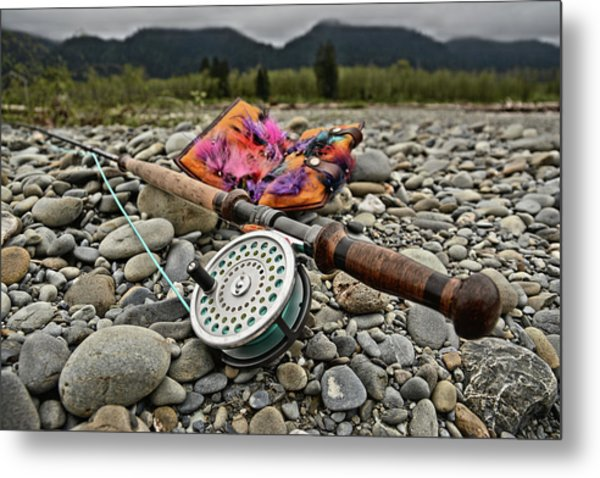 Fly Rod And Streamers Landscape Metal Print