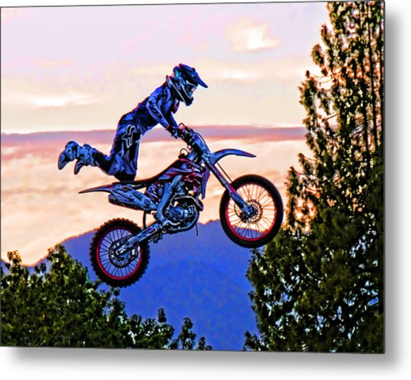 Flying 4 Just Hangin On Metal Print