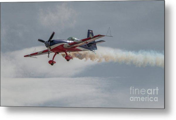 Flying Acrobatic Plane Metal Print